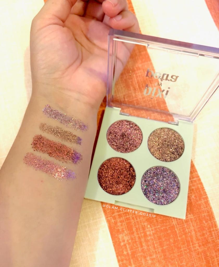 Pixi Beauty Glitter-y Eye Quads Review