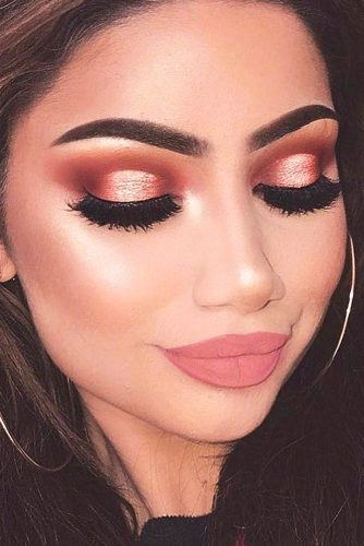 Glitter Rose Gold Makeup Ideas picture 4