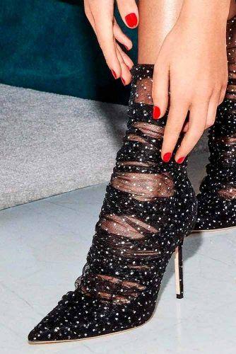 Glam Black Shoes #blackshoes #glamheels