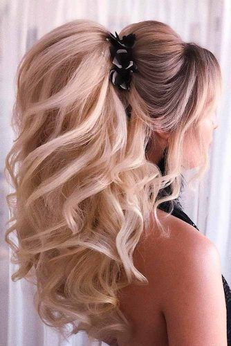 Wedding Ponytail With Puff