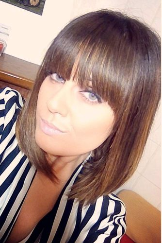 Hairstyles with Fringe for Medium Hair