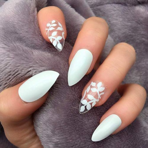 Sweety And Cute Wedding Nail Designs