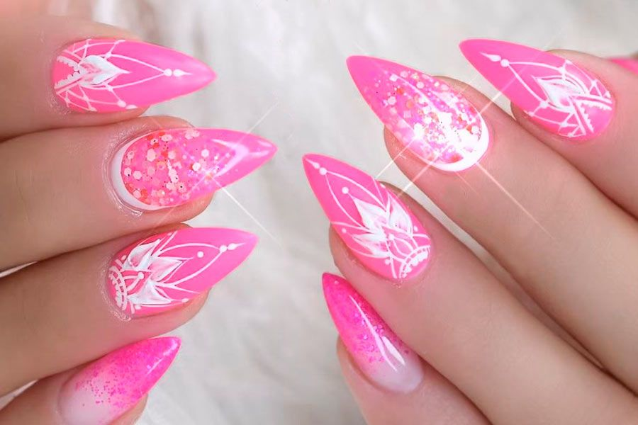34 Pink And White Nails Trends For Spring And Summer 2020