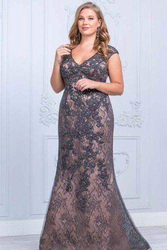 Lace Plus Size Prom Dress