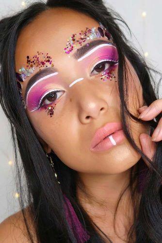 Tribe Festival Makeup #pinkshadow #tribemakeup