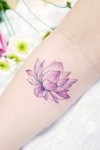 10 BEST LOTUS FLOWER TATTOO IDEAS TO EXPRESS YOURSELF | Cute Purple Lotus Flower Tattoo #watercolortattoo #purpletattoo