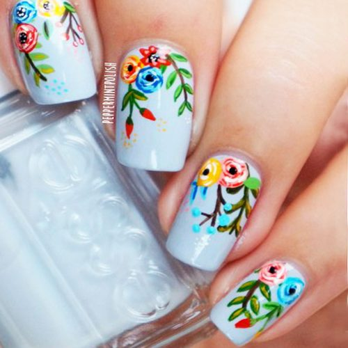 Fresh Spring Nail Flowers Picture 2