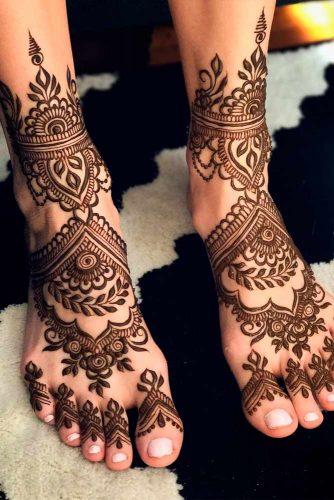 Feet With Henna Patterns