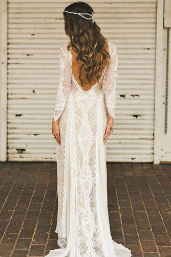 Boho Wedding Dress With Open Back