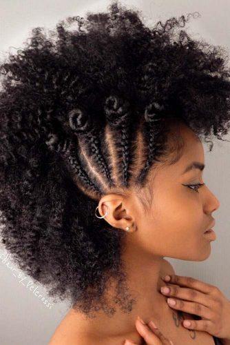 Natural Hair With Faux Hawk Hairstyle #naturalhair #curlyhair