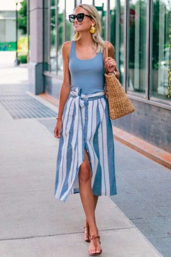 Classic T-shirt Variations #tshirt #summerskirt