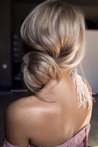 Easy Updo For Long Hair With A Side Bun #sidebun #sideupdo
