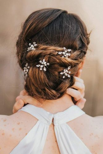 Beautiful Twisted Updo With Pins To Complete Your Look #twistedbun #hairaccessory