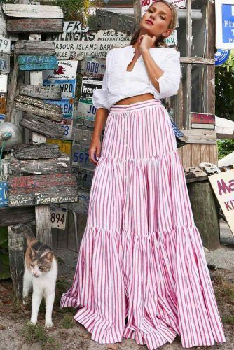 Peasant Skirt #summerskirt #pinkskirt