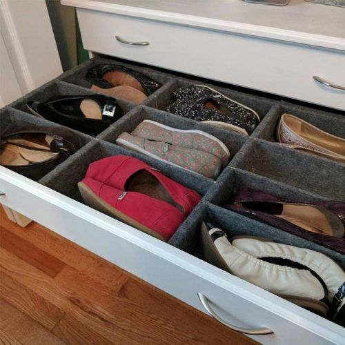 Shoe Cabinet With Adjustable Cubbies In Each Drawer #shoecabinet