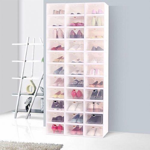 Shoe Box Storage #plasticshoebox