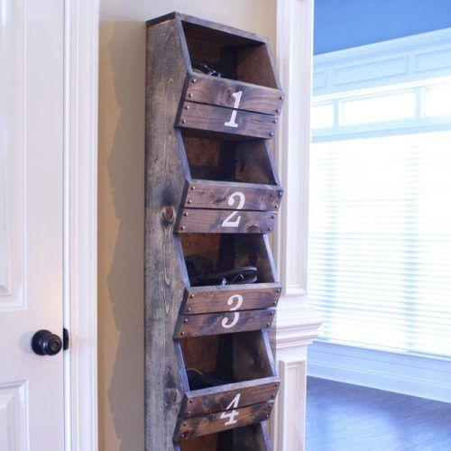 Rustic Shoes Organizer #woodshoesorganizer