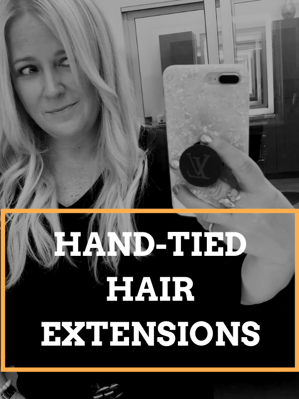 What Hand-Tied Hair Extensions Look Like: Behind the Scenes