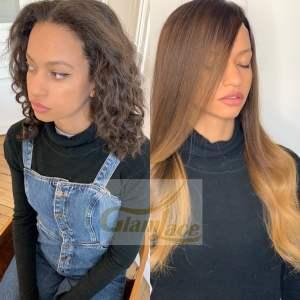 Avant après fille cheveux afro