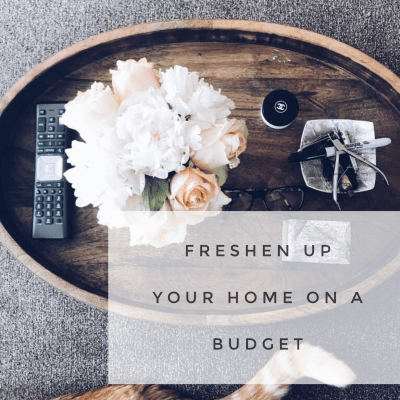 Freshen up your home on a budget