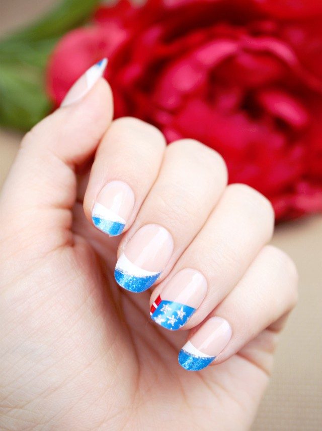 Find Out How To Create Easy Red White And Blue Nail Art For 4th Of