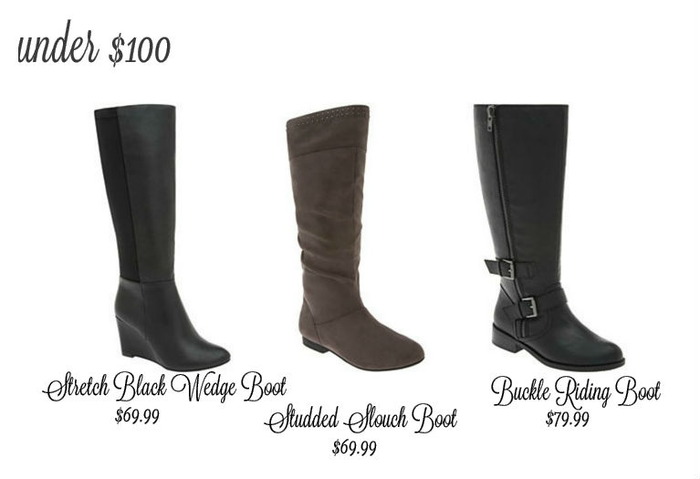 Wide Calf Boots under $100