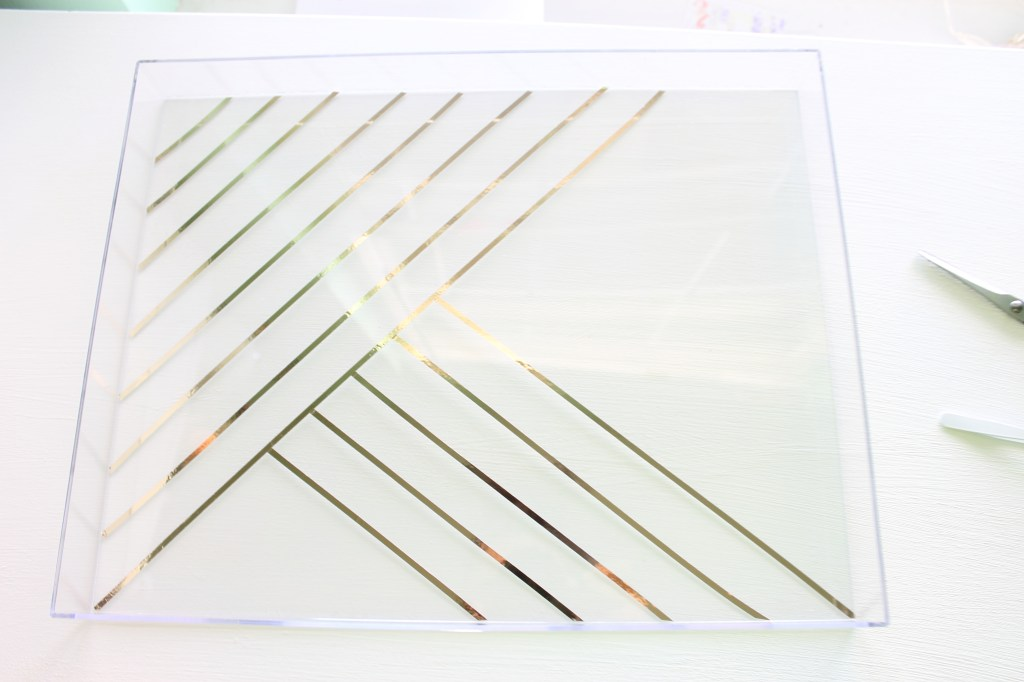 Lucite Gold Metallic tray