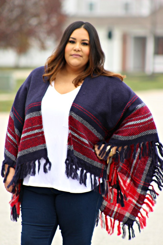 Plus Size Poncho Outfit