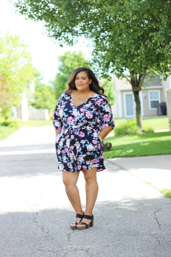 Boutique +, Plus size fashion, Plus size floral romper, Ashley Tipton