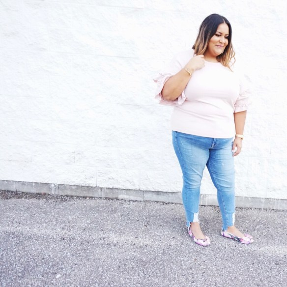 Plus Size Ruffled Sweaters & Sweatshirts