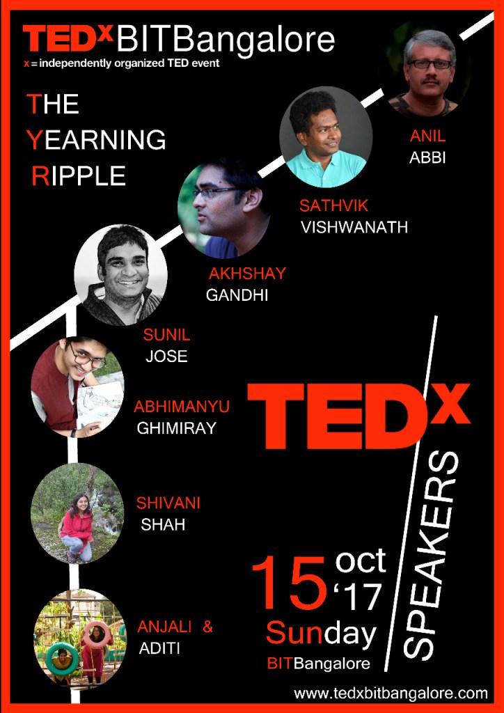 TEDxBIT Bangalore Speakers