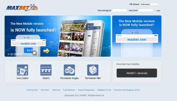 Daftar Maxbet via HP