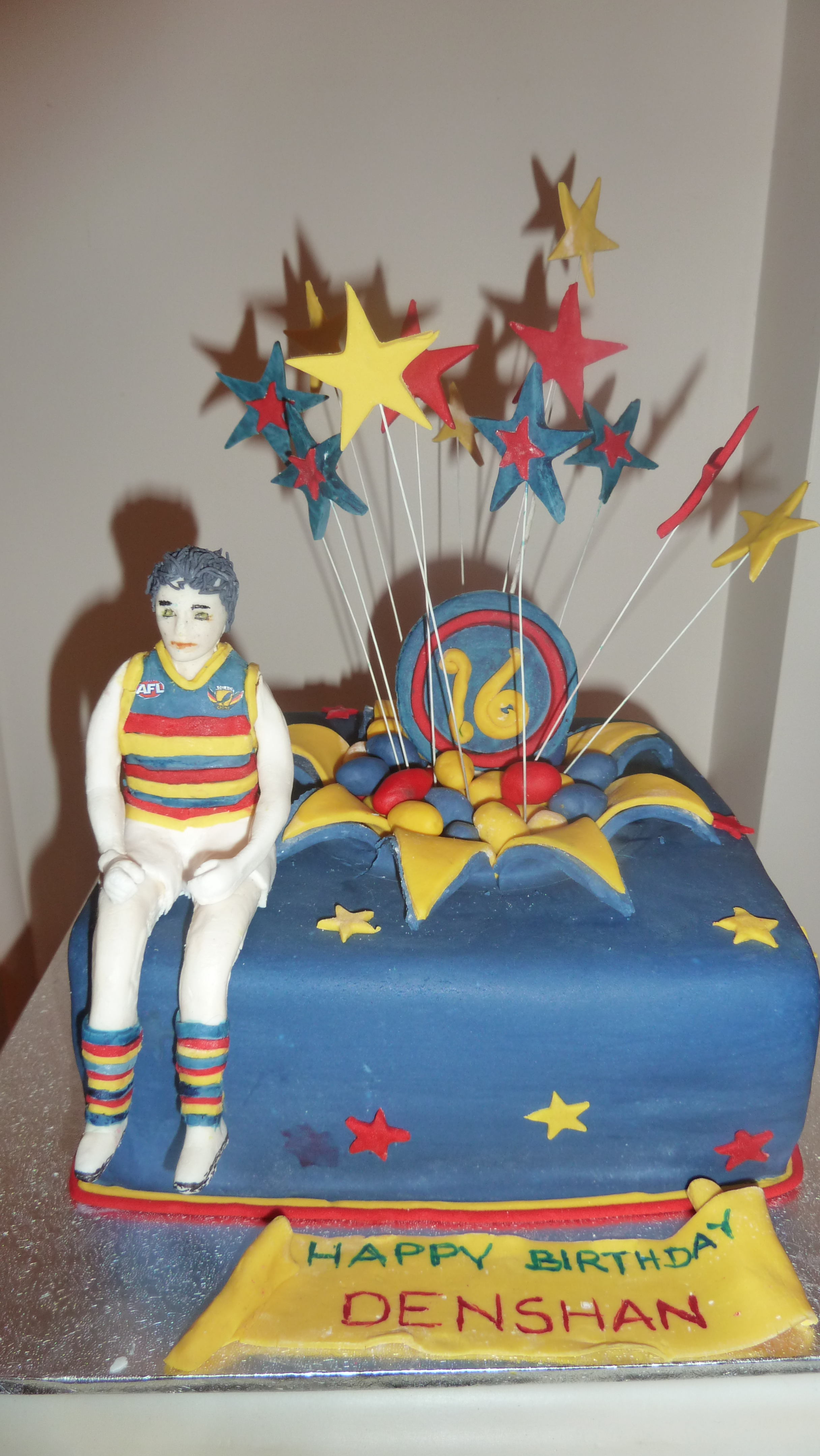 Afl Adelaide Crows Themed Cake