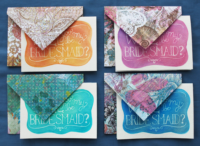 DIY watercolor cards   Glamour & Grace