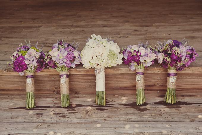 A Purple Rustic Wedding