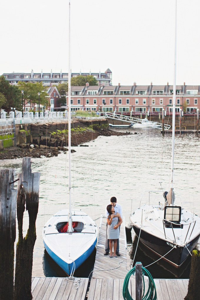 Boston pier engagement | Rebecca Hansen