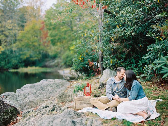 fall camping engagement | Josh Deaton