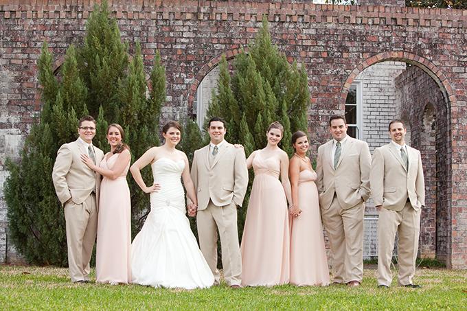 peach southern spring wedding | Ashley Daniell