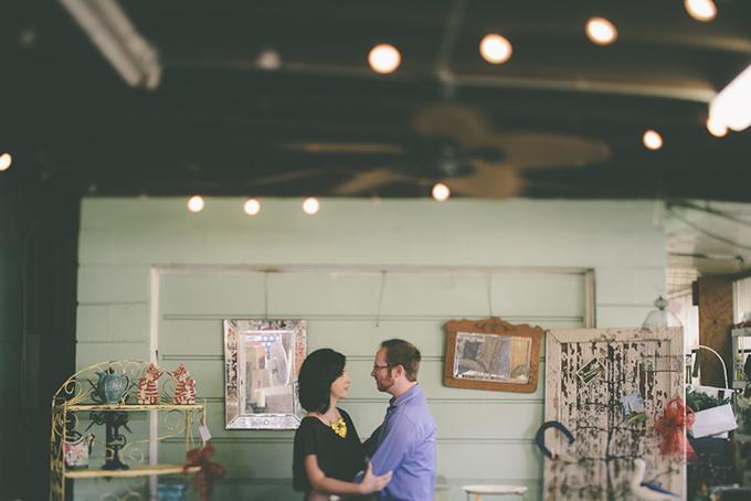 antique shop engagement   Ashley Hamilton Photography