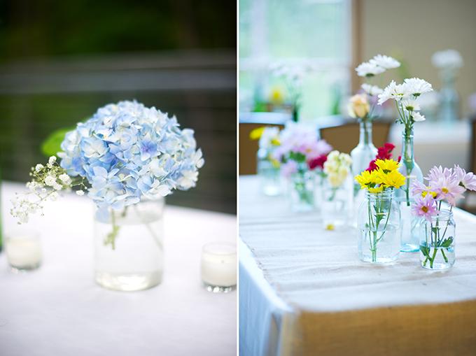 rustic wedding centerpiece ideas | Alisha Crossley Photography