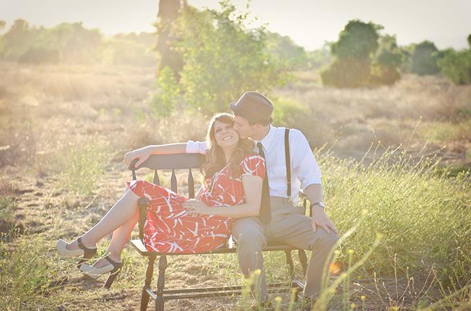 vintage travel engagement | Terina Matthews Photography