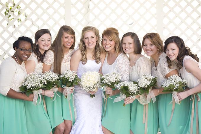 mint bridesmaids | Ashley Upchurch Photography