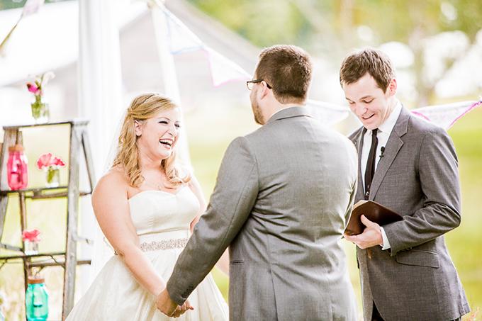 colorful DIY wedding | Meet the Burks