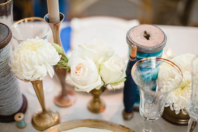 handmade blue and gold wedding inspiration | JoPhoto