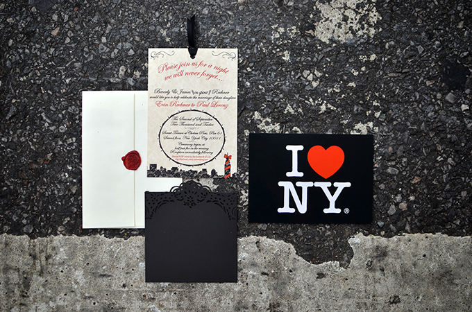 red and black NYC invitation | Jessica Schmitt Photography