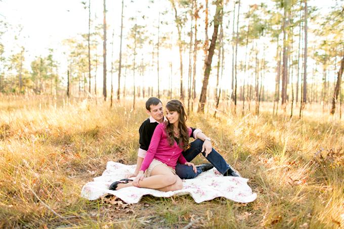 woodsy Florida engagement session | Amalie Orrange Photography