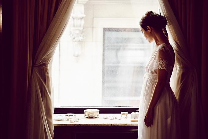 bride getting ready | Christina Esteban and Jeremy Bobrow