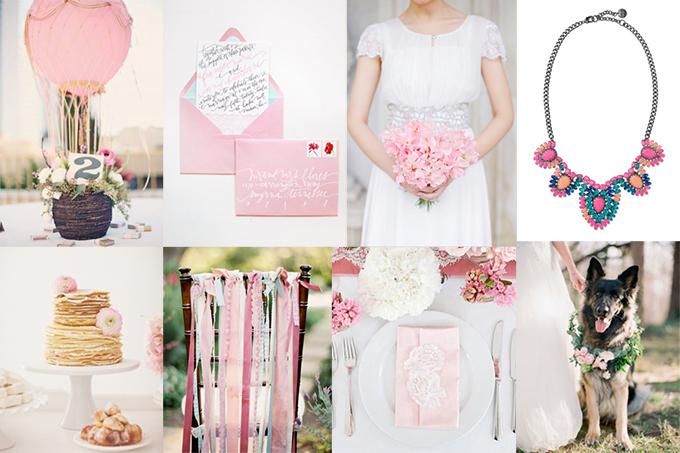 whimsical blush and blue wedding inspiration   Glamour & Grace
