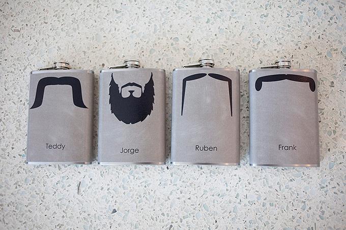 groomsmen flasks | Captured Photography by Jenny