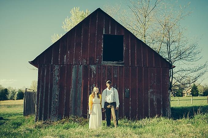 rustic Maryland farm engagement   C&I Studios